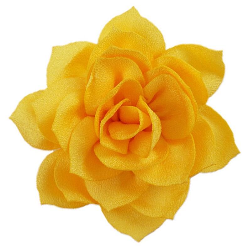 2.5 Satin Lotus Flower Yellow SSFN-008