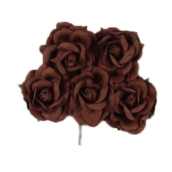 1.5 Premium Paper Roses PPF-184 Brown