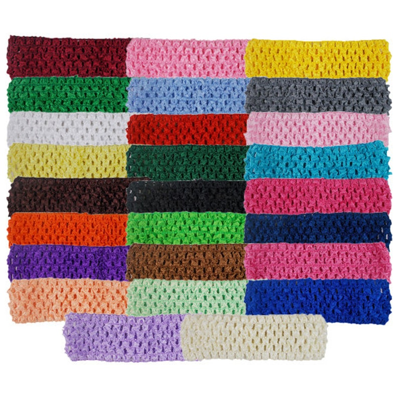 CHB-009 1.5 Crochet Headband Yellow