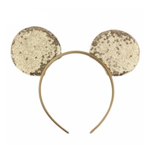 3 Sequin Mouse Ears Headband HB-MMEX-008 Pink