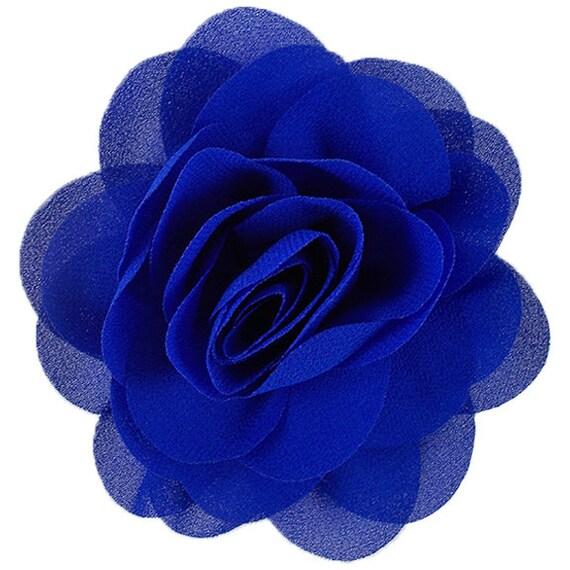 Teal PPR-030 2 Chiffon Pearl /& Rhinestone Flower