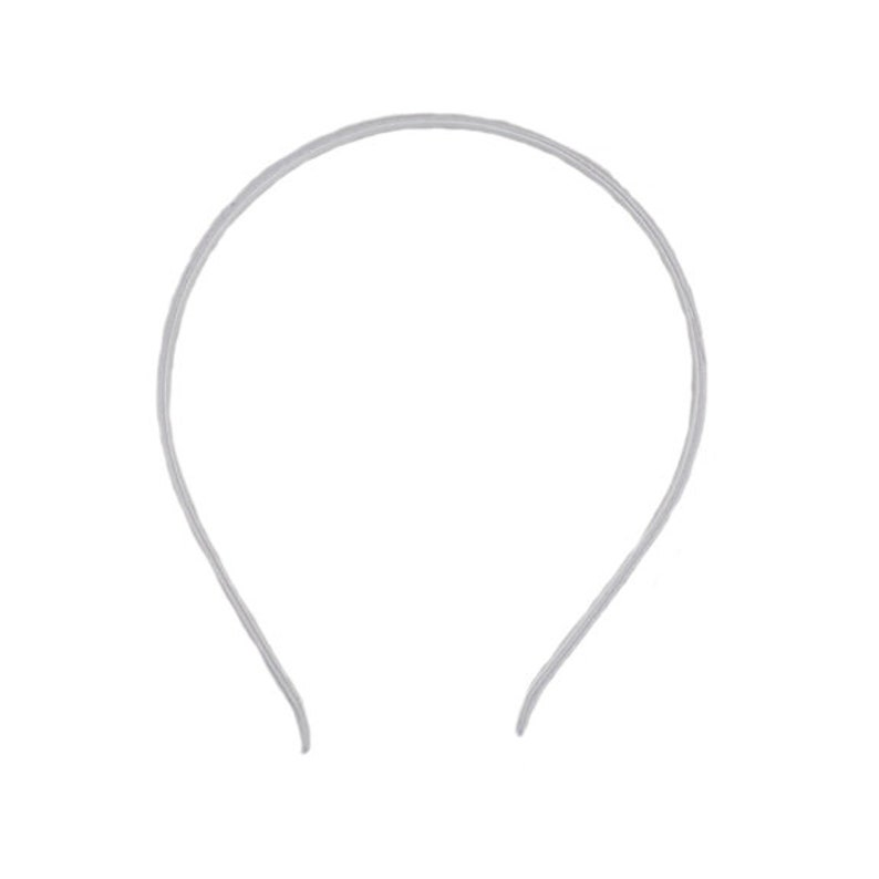 5mm Satin Lined Metal Headband White HB-SLM-018