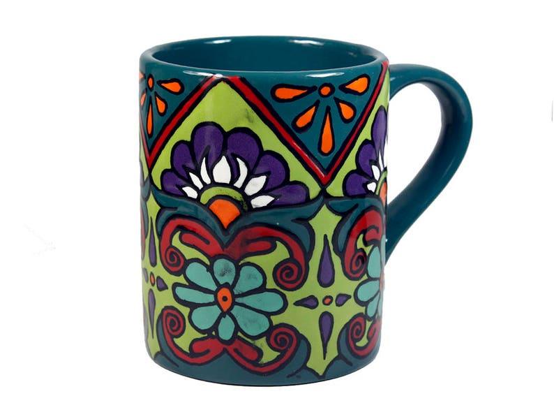 À Tasse Floral MexicainPoterie Peint Main « TasseMug Une MugEn De Céramique La MexicaineCuisine Café Talavera hQdCxtBrso