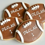 18 Personalized Football Cookies!