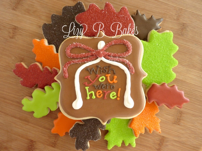 Gorgeous 'Wish You Were Here' Thanksgiving Cookie Set image 0