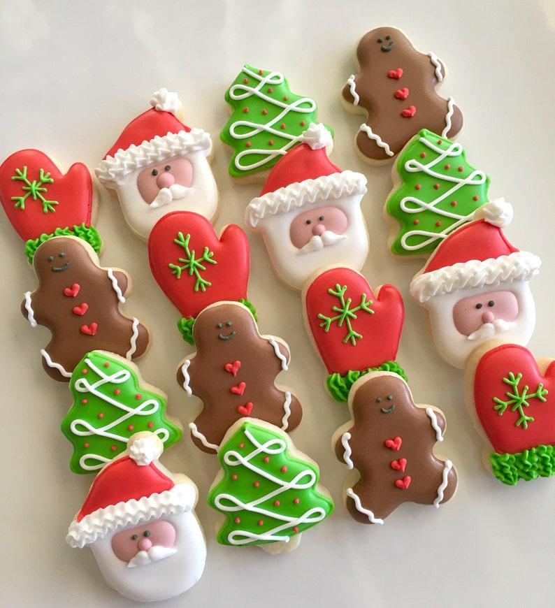 24 Mini Merry Christmas Cookies image 0