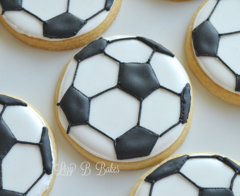 18 Soccer Ball Cookies image 0
