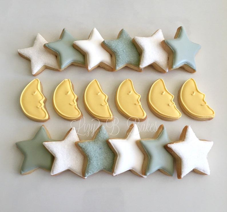 36 Mini Moons and Stars Cookies image 0