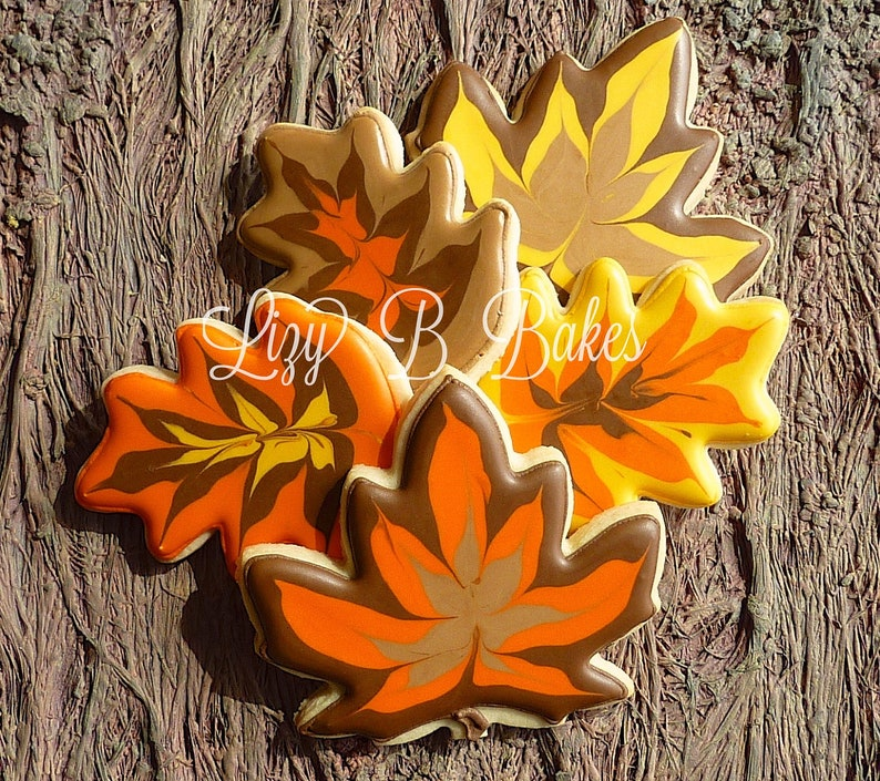 Autumn Leaves Sugar Cookies for Thanksgiving image 0