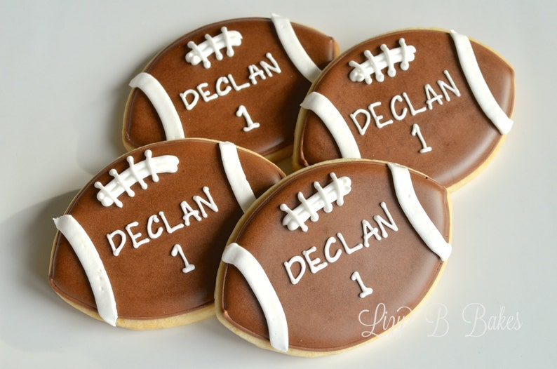 18 Personalized Football Cookies image 0