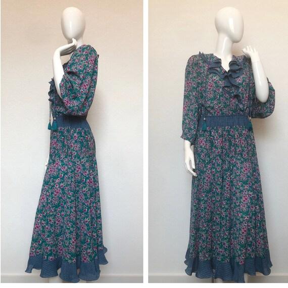 Vintage Diane Freis Dress • Georgette Diane Freis