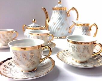 Sterling China Japan Demitasse Coffee Set-15 Pieces