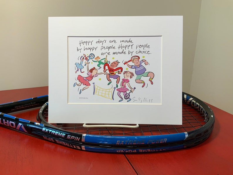 New Art print hand-signed by Sally Huss Happy Days image 0