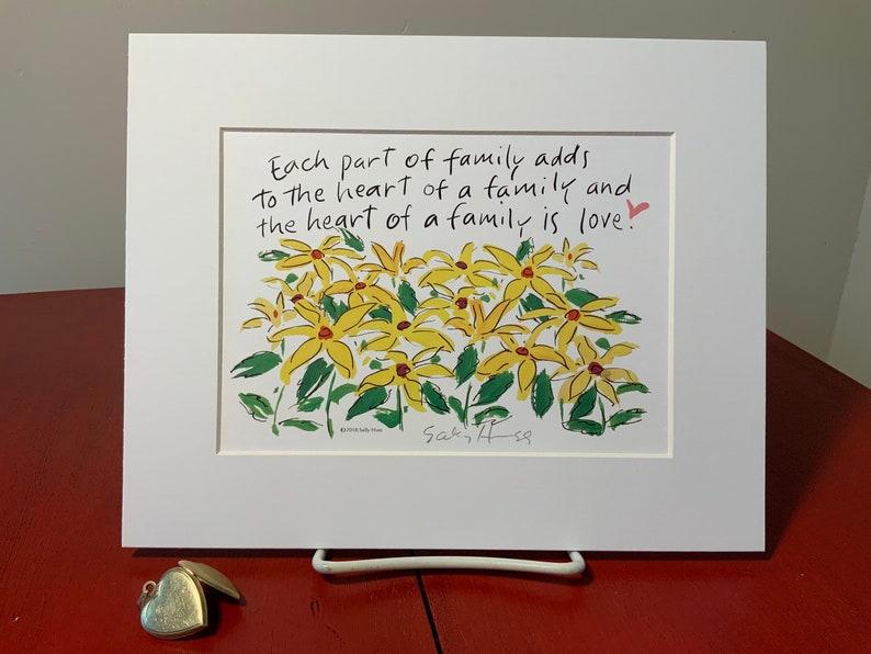 New Art print hand-signed by Sally Huss Heart of a image 0