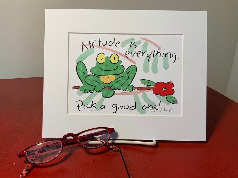 New Art print hand-signed by Sally Huss Attitude is image 0