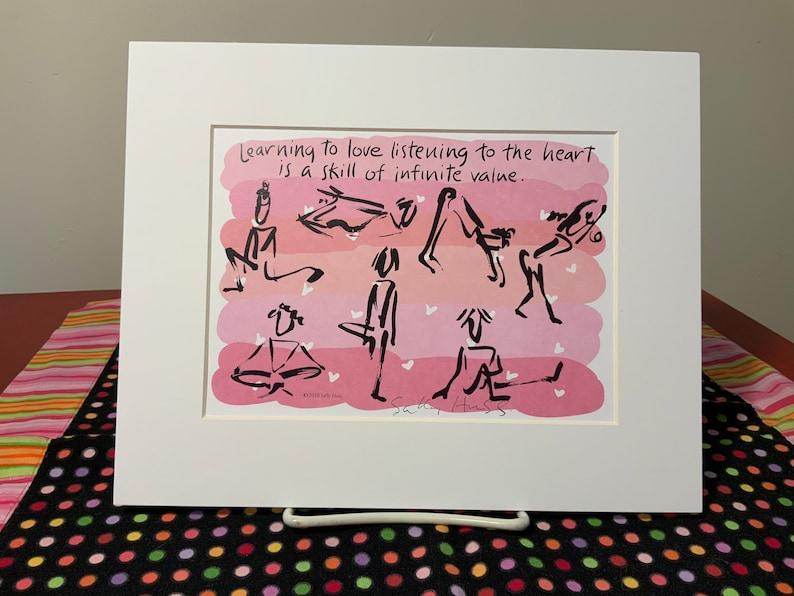 New Art print hand-signed by Sally Huss Yoga Girls image 0