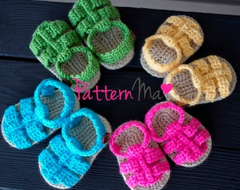 Crochet Baby Sandals Pattern Boy or Girl #9