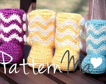 Chevron Baby Bootie Pattern Crochet #13