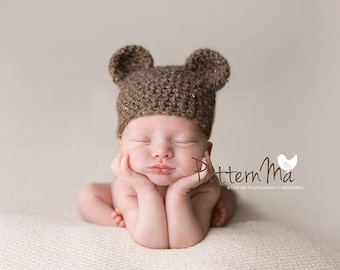 Crochet Pattern Baby Bear Hat PDF #29