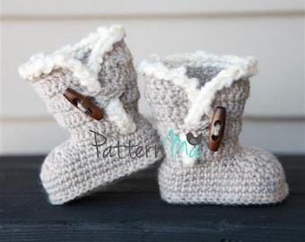 Crochet Baby Booties PDF pattern #3