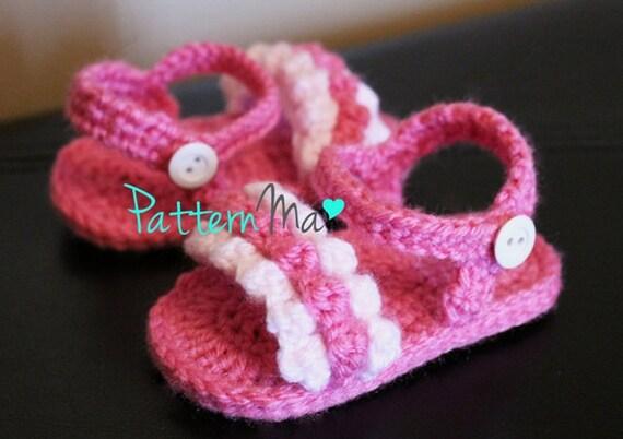 Crochet Baby Sandals Pattern Ruffled 8