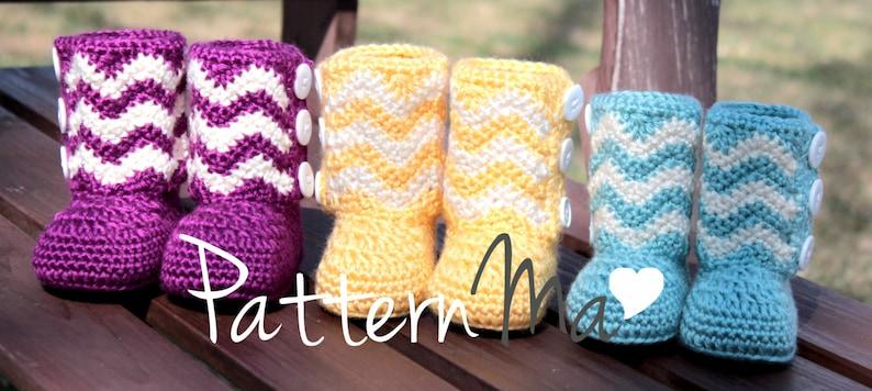 cb6fc805fd2 Crochet Baby Boots PDF pattern Chevron #13