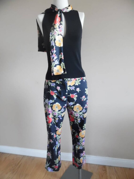 Vintage 1990s Pant Set Moschino Cheap and Chic Bl… - image 2