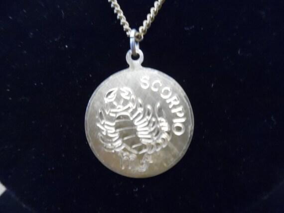 Vintage 1970s Scorpio Pendant Necklace 12 Karat Go