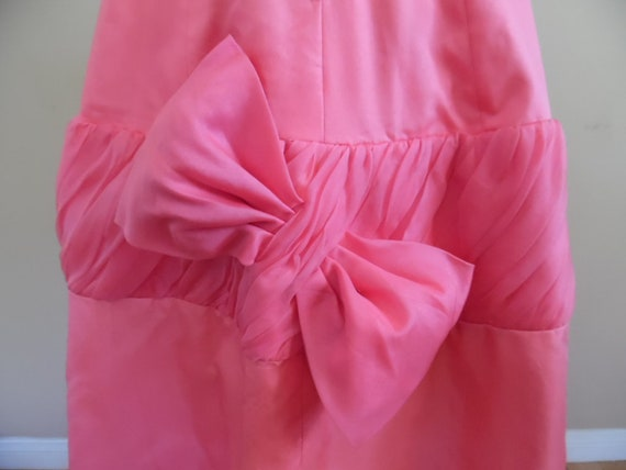 Exquisite Vintage 1950s Pink Tea Length Ball Gown