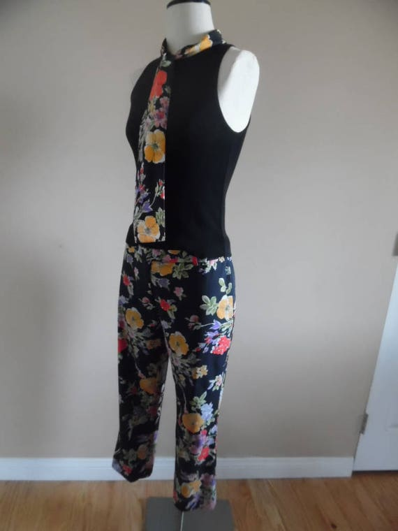 Vintage 1990s Pant Set Moschino Cheap and Chic Bl… - image 3