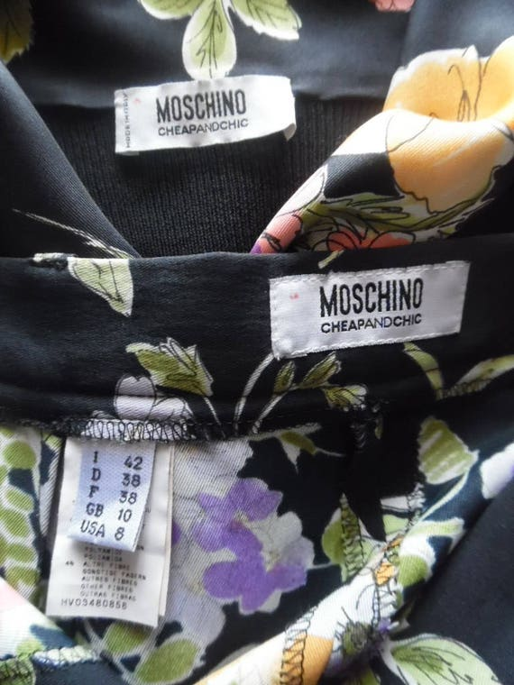 Vintage 1990s Pant Set Moschino Cheap and Chic Bl… - image 8