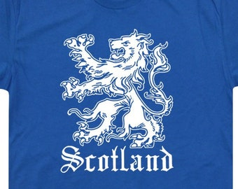 ca5745111f3 Scotland T Shirt Vintage Scotland Flag T Shirt Scottish Lion Graphic Crest  TShirt Design For Mens Womens Ladies Kids Soccer Rugby Tee