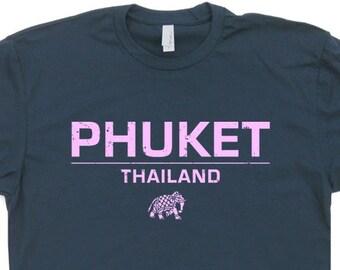 a55aba1d4b2 Phuket Thailand T Shirt Yoga Shirts India Elephant Shirts Buddha Saying Zen The  Hangover Buddhist Bangkok Peace mens and womens Shirts