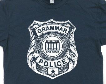 Grammar Police T Shirt Funny Grammar T Shirt English Teacher Reading T Shirt Book Nerd T Shirt I'm silently Correcting Your Grammar Tee
