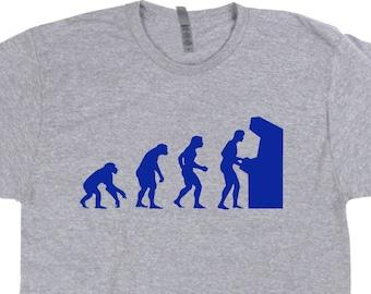 8891edc09 Cool Gamer Shirt Old School Gamer T Shirt Vintage Arcade Gaming Graphic Tee  For Mens Womens Kids 80s Video Game Shirt Retro Gaming Evolution