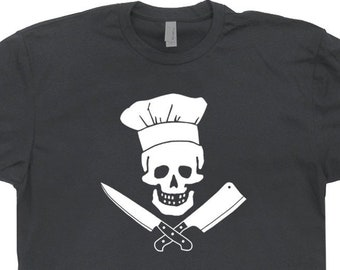 374020e606db Head Chef T Shirt Chef Skull Shirt Cool Cook Tees For Men Women Kids Funny  Cooking tShirts Bbq Butcher Shop Gift For Chef Sous Chef Shirt
