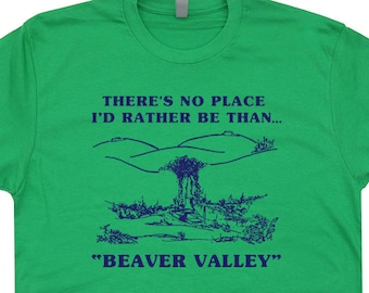 95c3cee3 Beaver Valley Funny T Shirt Offensive T Shirts Rude Boobs Graphic Vintage Shirts  with Funny Sayings Retro Sexual Novelty Adult Humor Tees