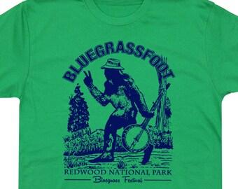 4a0e6470 Bluegrass T Shirts Banjo Shirt Bigfoot TShirt Vintage Concert Shirt  Sasquatch Tees For Mens Womens Kids Ladies Band Graphic Yosemite Park