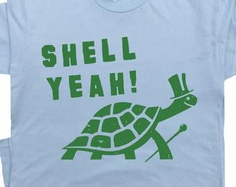 Teenagers Teen Boy Snail Riding Turtle Printed Long Sleeve 100/% Cotton T-Shirts