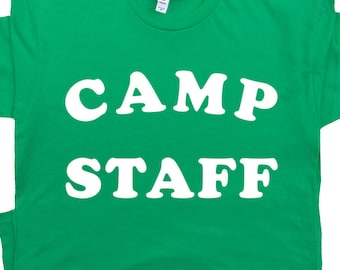 e2a287de Camp Staff T Shirt Retro Camping Shirts Funny Vintage Cool Graphic Camping  Tee Cute Tshirt For Men Women Kids Camp Crystal Lake Counselor