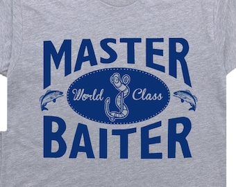 66a4a5a0 Master Baiter T Shirt Funny Fishing Shirts With Funny Saying Sexual Slogan  Offensive Shirts Mens Fishing T Shirt Fishing Lure Novelty Shirt