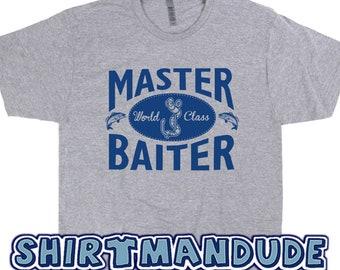 3bac1ff1 Master Baiter T Shirt Funny Fishing Shirts Offensive Shirts Fishing T Shirts  Rude Saying Fishing T Shirt Saying Novelty Fishing Shirts