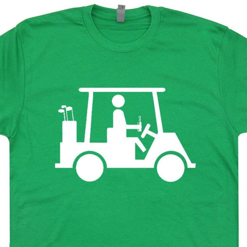 6357dd60f Funny Golf T Shirt Golfer Drinking Beer Shirt Cool Golfing | Etsy