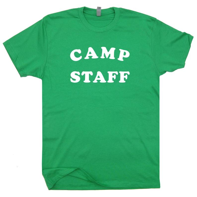 b71b3de31d5c Camp Staff T Shirt Retro Camping Shirts Funny Vintage Cool