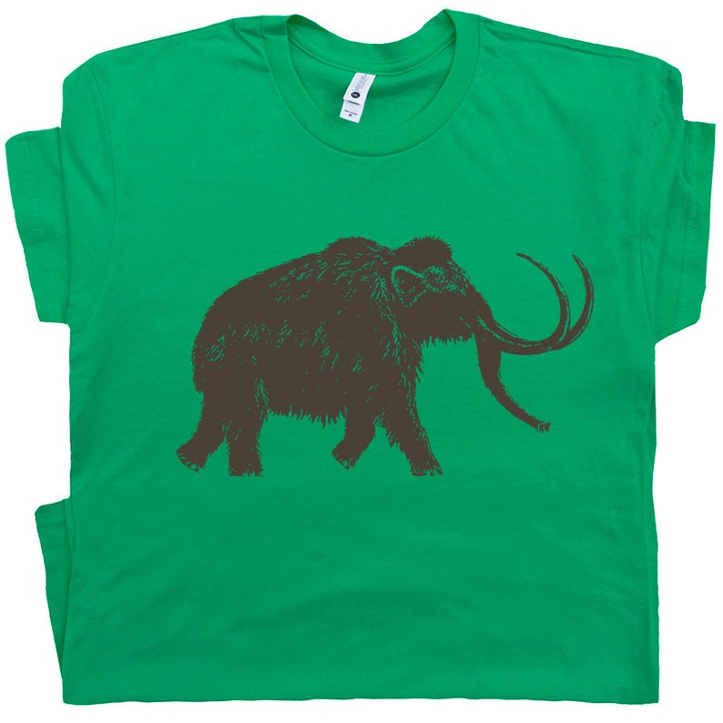 50f7fcfb7293 Big Woolly Mammoth T Shirt Dinosaur Shirts Cool Elephant Shirt | Etsy