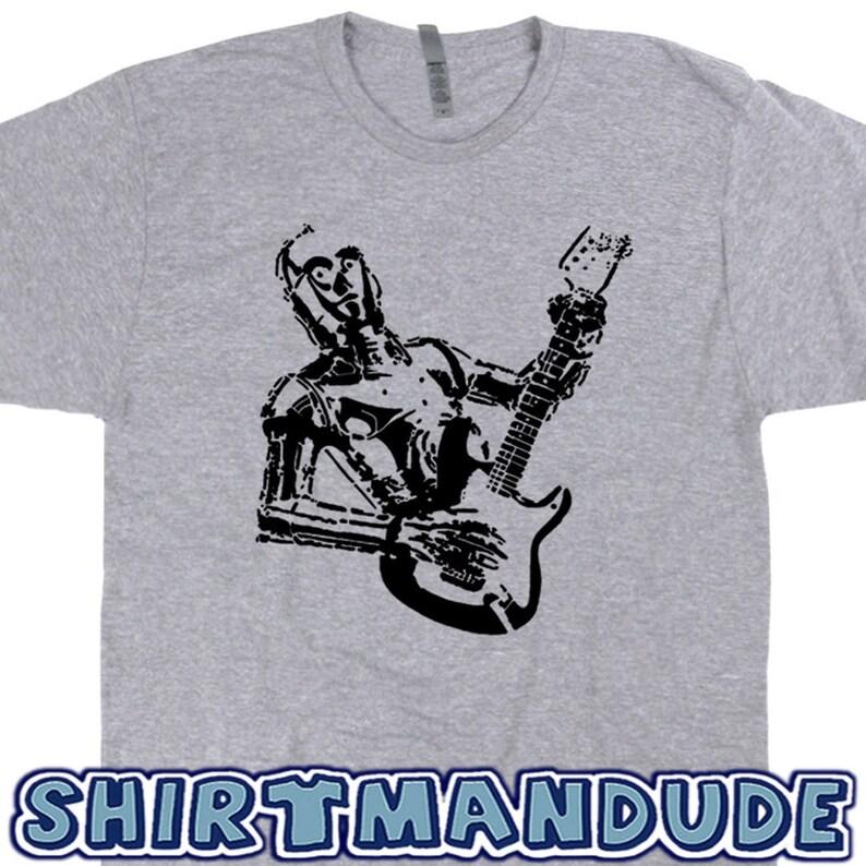36e58add8 Robot Guitar T Shirts Cool Guitar Shirt Electric Guitar Tee Bass Acoustic  Vintag... Robot Guitar T Shirts Cool Guitar Shirt Electric Guitar Tee Bass .