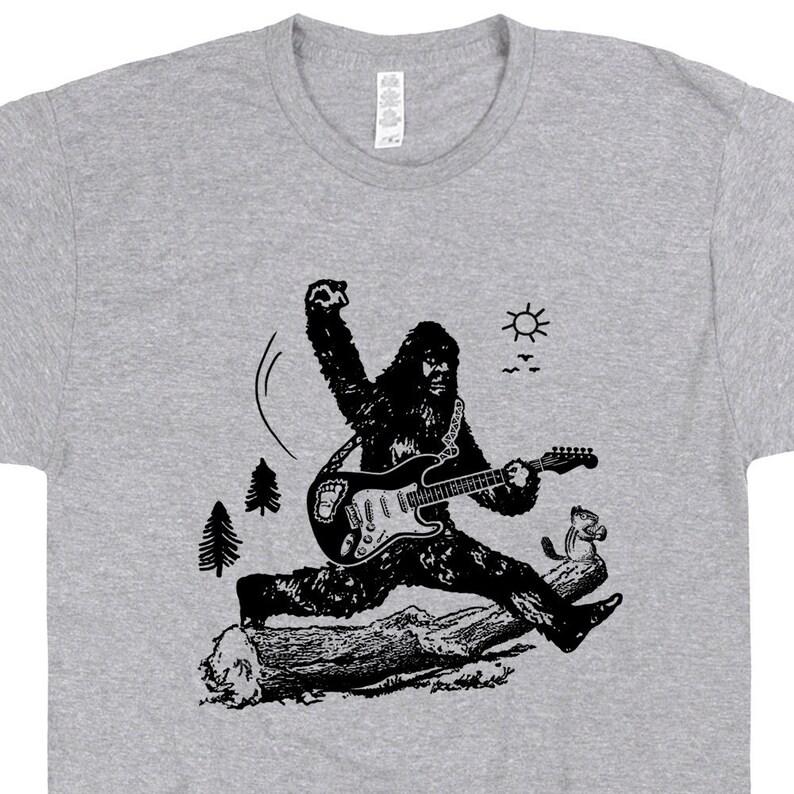 7bd36a24a Cool Guitar Shirts Bigfoot Playing Guitar Shirt Vintage Guitar | Etsy