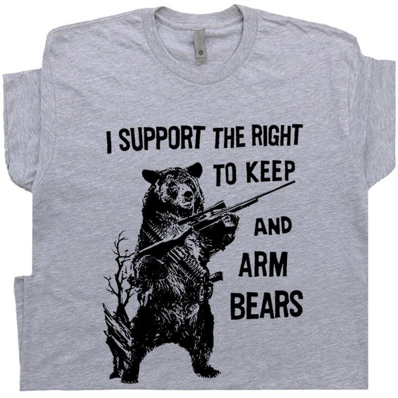 5a5c797da Bear Arms Shirt 2nd Amendment T Shirt Funny Hunting Shirt | Etsy