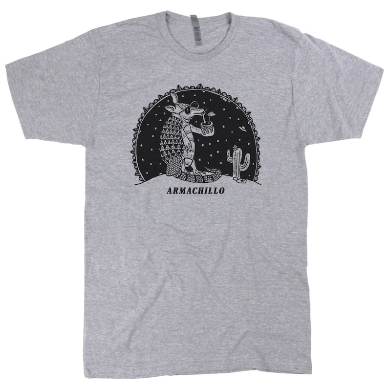 4cc37a5d Armadillo Shirt Mens Womens Graphic Funny Drinking Shirts Cute | Etsy