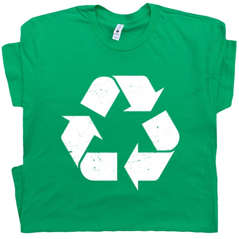Recycle T Shirt Recycling Logo T Shirt Vintage Recycle Symbol Graphic Tee  Mens Womens Retro Recycle Logo TShirt 80s Karma Kids Green